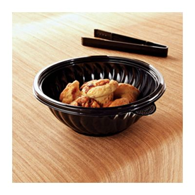 EMI Yoshi EMI-PTB48-9B 48 oz PrepServe Serving Bowls, PET, Black - 50 / Case