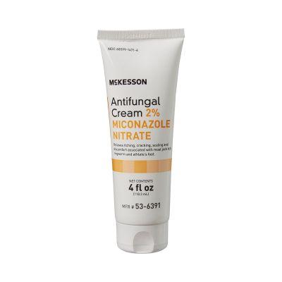 McKesson 53-6391 Antifungal Cream, 2% Miconazole Nitrate, 4 oz Tube - 12 / Case