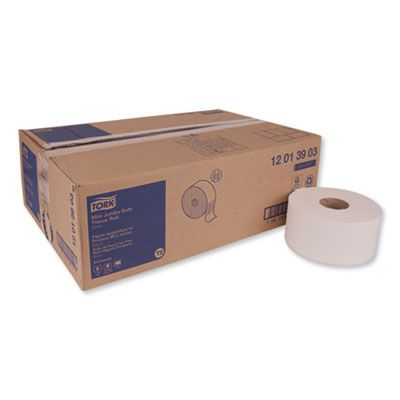 "Essity 12013903 Tork Advanced Jumbo Roll Toilet Paper, 1 Ply, 7.4"" x 1200', White - 12 / Case"