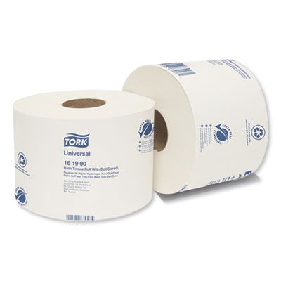 Essity 161990 Tork Universal Toilet Paper Roll, OptiCore, 2 Ply, 865 Sheets / Standard Roll - 36 / Case