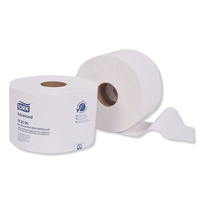 Essity 162090 Tork Advanced Toilet Paper, OptiCore, 2 Ply, 865 Sheets / Roll, White - 36 / Case