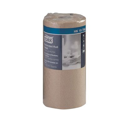 "Essity HK1975A Tork Universal Perforated Paper Towel Roll, 2 Ply, 11"" x 9"", 210 Sheets / Roll, Natural Brown - 12 / Case"