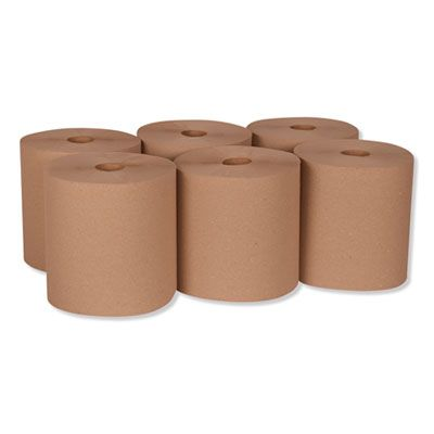 "Essity RK8002 Tork Universal Hardwound Paper Hand Roll Towels, 7.88"" x 800', Natural Brown - 6 / Case"