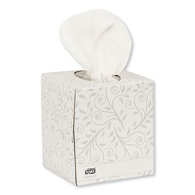 "Essity TF6830 Tork Advanced Facial Tissue, 2 Ply, 8"" x 8"", 94 Tissues / Cube Box - 36 / Case"