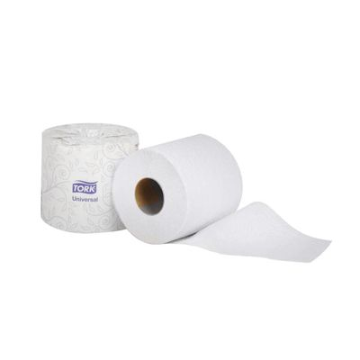 """Essity TM1601A Tork Universal Toilet Paper, 2 Ply, 3.75"""" x 4.2"""", 500 Sheets / Roll, White - 48 / Case"""