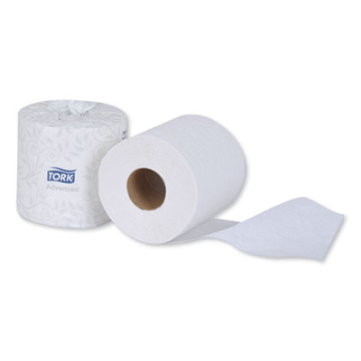 Essity TM6120S Tork Advanced Toilet Paper, 2 Ply, 500 Sheets / Standard Roll, White - 96 / Case