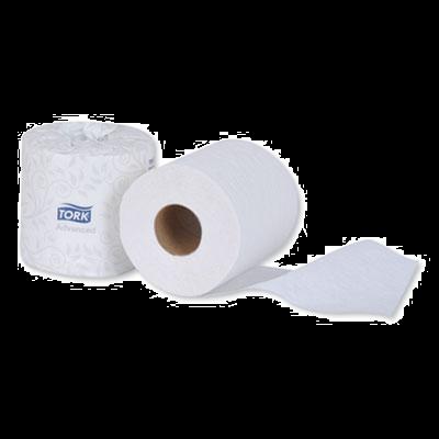 Essity TM6120S Tork Advanced Toilet Paper, 2 Ply, 500 Sheets / Standard Roll, White - 96 / Case
