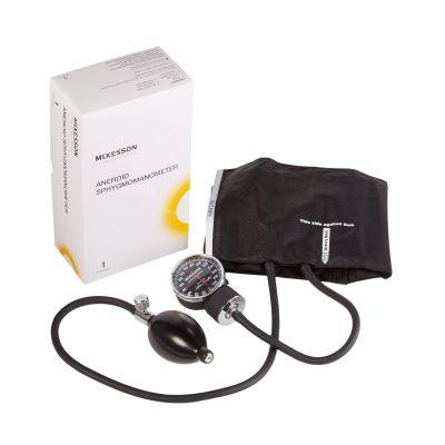McKesson 01-720-11ABKGM LUMEON Aneroid Sphygmomanometer with Adult Medium Cuff, 2-Tubes, Pocket Size Hand Held - 1 / Case