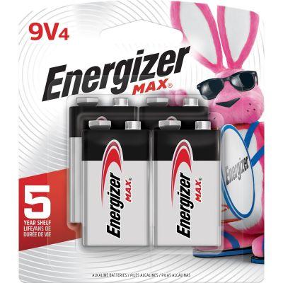 Eveready 522BP4 Energizer Max Alkaline Batteries, 9 Volt, 4 / Pack - 1 / Case