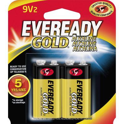 Eveready A522BP2 Gold Alkaline Batteries, 9 Volt - 48 / Case