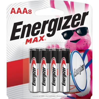 Eveready E92MP8 Energizer Max Alkaline Batteries, AAA Size - 192 / Case