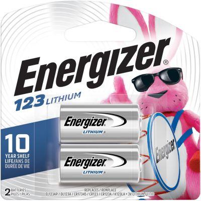 Eveready EL123APB2 Energizer 123 e2 Lithium Battery, 3 Volt - 48 / Case