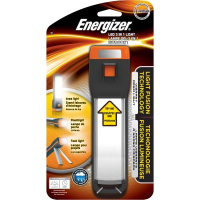 Eveready ENFAT41E Energizer LED 3-In-1 Tripod Folding Area Light, Orange / Black - 1 / Case