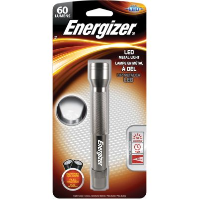 Eveready ENML2AAS Energizer LED Metal Flashlight, Compact, 35 Lumens, Silver - 1 / Case