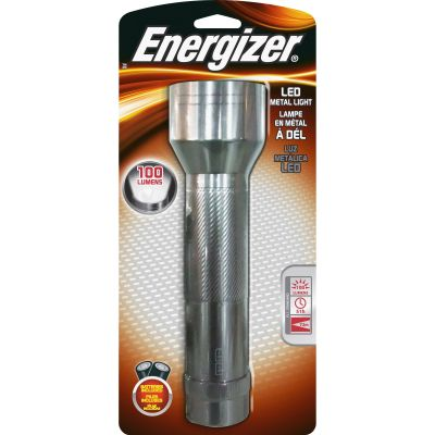 Eveready ENML2DS Energizer LED Metal Flashlight, Silver - 1 / Case