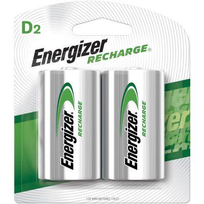 Eveready NH50BP2 Energizer NiMH Rechargeable Batteries, D Size - 48 / Case