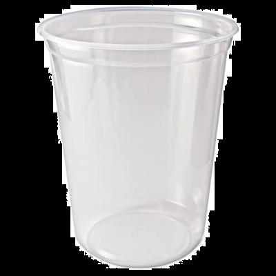 Fabri-Kal PK32T-C Pro-Kal 32 oz Plastic Deli Containers, Polypropylene, Clear - 500 / Case