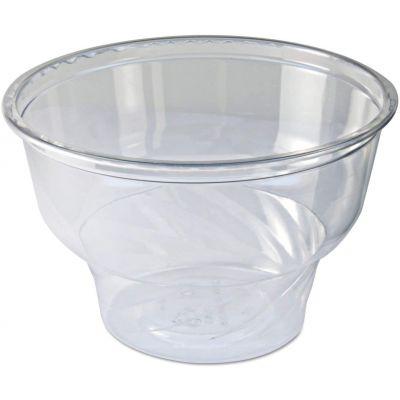 Fabri-Kal DE5 5 oz Indulge Recycleware Dessert Containers, PET Plastic, Clear - 1000 / Case