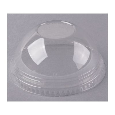 Fabri-Kal DLKC16/24NH Dome Lids for 5, 8, & 12 oz Recycleware Dessert Containers, Clear PET Plastic, No Hole - 1000 / Case