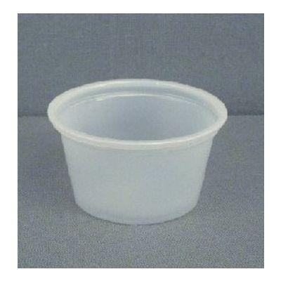 Fabri-Kal PC075 0.75 oz Plastic Portion Cups, Polystyrene, Translucent - 2500 / Case