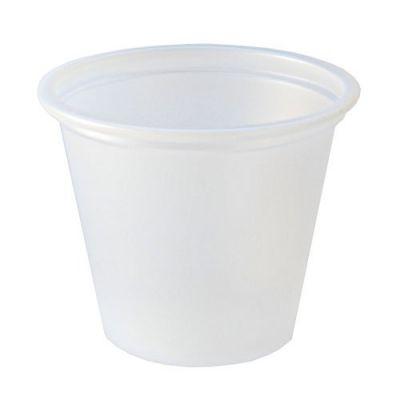 Fabri-Kal PC100 1 oz Plastic Portion Cups, Polystyrene, Translucent - 2500 / Case