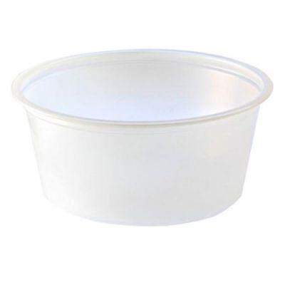 Fabri-Kal PC325 3.25 oz Plastic Portion Cups, Polystyrene, Translucent - 2500 / Case