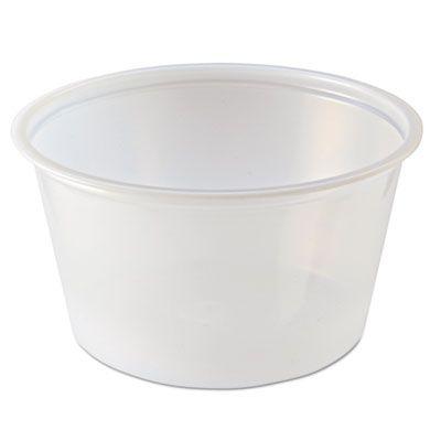 Fabri-Kal PC400 4 oz Plastic Portion Cups, Polystyrene, Translucent - 2500 / Case