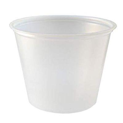 Fabri-Kal PC550 5.5 oz Plastic Portion Cups, Polystyrene, Translucent - 2500 / Case