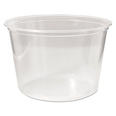 Fabri-Kal PK16S-C Pro-Kal 16 oz Plastic Deli Container, Polypropylene, Clear - 500 / Case