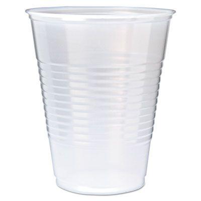 Fabri-Kal RK12 12 oz Plastic Cold Cups, Polystyrene, Translucent - 1000 / Case