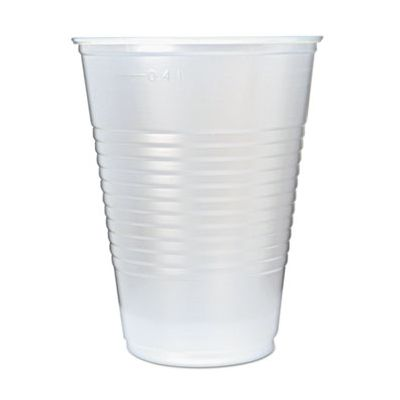 Fabri-Kal RK16 Right Kup 16 oz Plastic Cold Cups, Polystyrene, Translucent - 1000 / Case