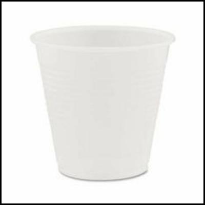 Fabri-Kal RK3 3 oz Plastic Cold Cups, Translucent - 2500 / Case