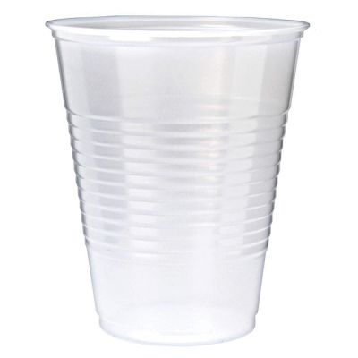 Fabri-Kal RK7 Right Kup 7 oz Plastic Cold Cups, Polystyrene, Translucent - 2500 / Case