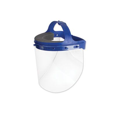 "Face Shield with Headgear, 16.5"" x 10.25"" - 16 / Case"