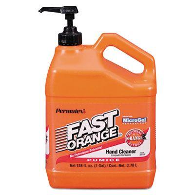 Fast Orange 25219 Pumice Hand Cleaner Cream, Citrus Scent, 1 Gallon Pump Bottle - 4 / Case
