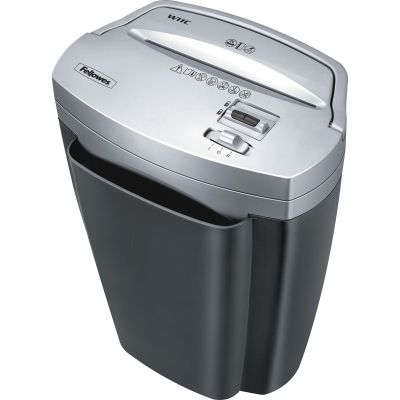 Fellowes 3103201 Powershred W11C Cross-cut Shredder, 11-Sheet Capacity, 4-3/4 Gallon Bin, Black / Silver - 1 / Case