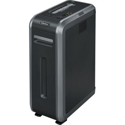 Fellowes 3312501 Powershred 125Ci Cross-Cut Shredder, 18-Sheet Capacity, Black - 1 / Case