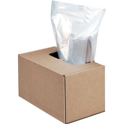 "Fellowes 3604101 50 Gallon Shredder Waste Bags, 50"" x 42"", Clear - 50 / Case"