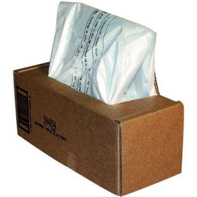 "Fellowes 36054 20 Gallon Shredder Bags for 125, 225, 2250 Series, 18"" x 13"" x 36"", Clear - 50 / Case"