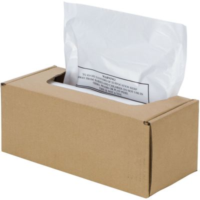 "Fellowes 3608401 20 Gallon Shredder Bags for Automax, 31.8"" x 37.4"" x 23.5"", Clear - 50 / Case"