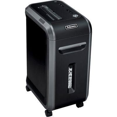 Fellowes 4690001 Powershred 90S Strip-Cut Shredder, 18-Sheet Capacity, Black - 1 / Case