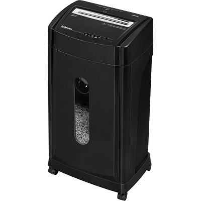 Fellowes 4817001 Microshred 46Ms Micro-Cut Shredder, 12-Sheet Capacity, 8 Gallon Bin, Black - 1 / Case