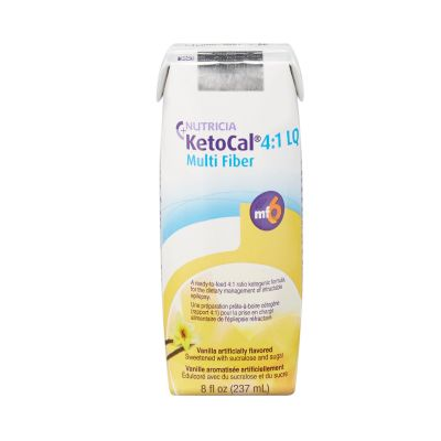 Nutricia 113354 KetoCal 4:1 LQ Oral Supplement, Vanilla Flavor, 8 oz Carton - 27 / Case