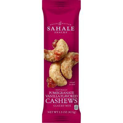 Sahale Snacks 21 Cashews Glazed Snack Mix with Pomegranate & Vanilla Flavor, 1.5 oz Packet - 18 / Case