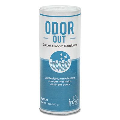 Fresh Products 121400LE Odor-Out Rug / Room Deodorant, Lemon, 12 oz Shaker Can - 12 / Case