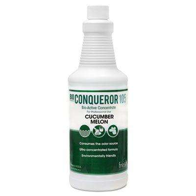 Fresh Products 1232BWBCMF Bio-Conqueror 105 Odor Counteractant Concentrate, Cucumber Melon, 1 Quart - 12 / Case