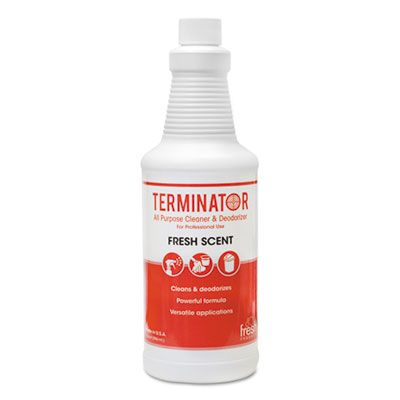 Fresh Products 1232TN Terminator Deodorizer All-Purpose Cleaner, 32 oz Bottle - 12 / Case