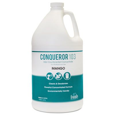 Fresh Products 1WBMG Conqueror 103 Odor Counteractant Concentrate, Mango, 1 Gallon Bottle - 4 / Case