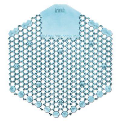 Fresh Products 3WDS60OMI Wave 3D Urinal Deodorizer Screen, Ocean Mist Fragrance, Blue - 60 / Case