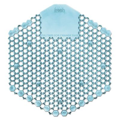 Fresh Products 3WDS60OMI Wave 3D Urinal Deodorizer Screen, Ocean Mist Fragrance, Blue - 10 / Case